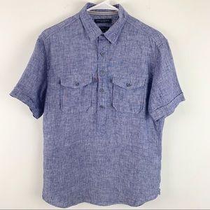 Banana Republic Mens Camden Fit 100% Linen Shirt